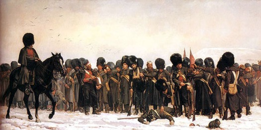 Calling the Roll after an engagement in the Crimea, E Butler 1874.