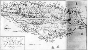 1670 map of Jamaica