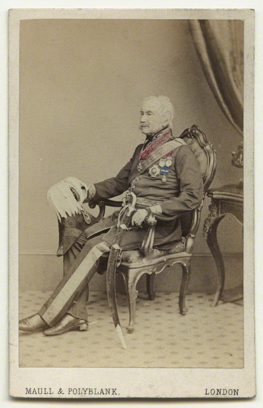 General Sir Alexander Clarke Kennedy. Captain in the 1st Royal Dragoons (Royals) from the early 1860s. He with Corporal Styles captured the Eagle of the 105e Ligne.