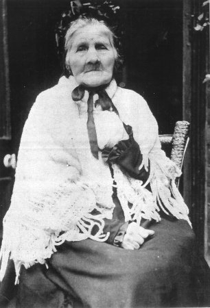 Mrs Elizabeth Watkins, the last British eyewitness of the Battle of Waterloo. Died in 1903.