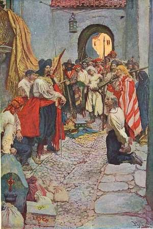 Sacking a Treasure Port by Howard Pyle