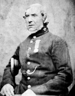 Sergeant John Gibson 33rd foot. As a prison warden.