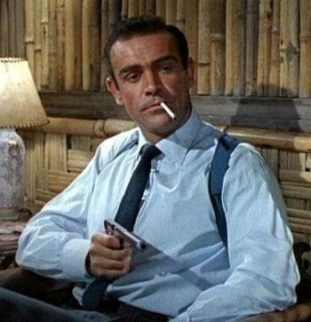 Sean Connery as James Bond, 007 in the first of the series: Dr. No in 1962.