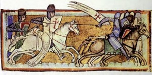 12th Century Templar Knights in Battle