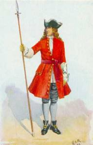 British company officer with spontoon
