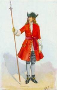 British company officer with spontoon