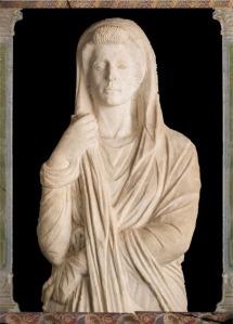 Garden Statue of a matron or Venus from Pompeii.