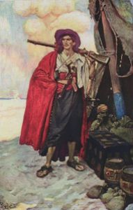 """""""The Buccaneer was a picturesque fellow"""" By Howard Pyle 1905."""