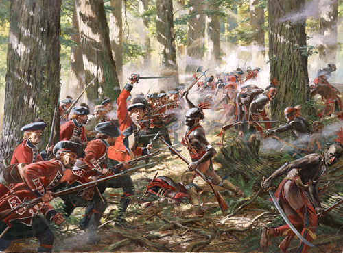 Battle of Bushy Run 1763. Don Troiani.
