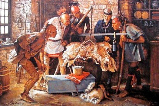 The Fur Trade in action, Balance of Honesty Robert Griffing.
