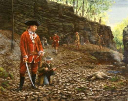 George Washington after the ambush at Jumonville Glen 1754.
