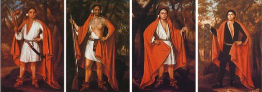 The Iroquois delegation of 1710.