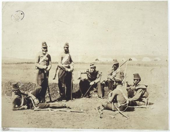 Chasseurs d'Afrique troopers and officers in the Crimea.
