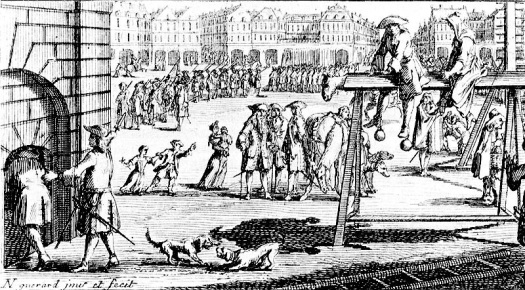 Wooden Horse punishment C1700. In Tangier were Marlborough served, the punishment was used on women who feared it more than pillory and flogging.