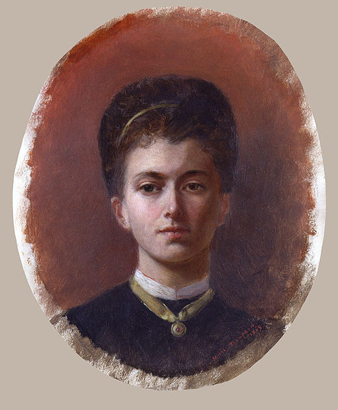 Self Portrait of Lady Butler from 1869