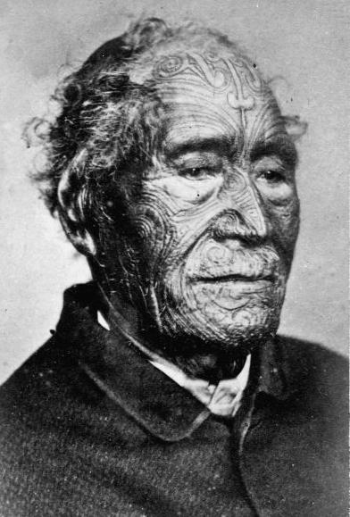 Chief Tamati Waka Nene the chief who made the treaty successful, 1870s