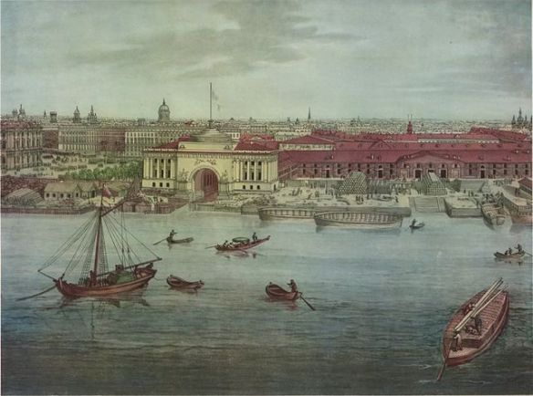Panorama of St Petersburg in 1820 by Toselli.