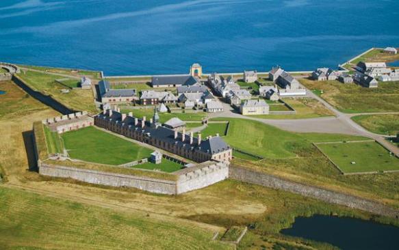 The fortress of Louisbourg, Cape Breton Island (Ile Royale) Nova Scotia.