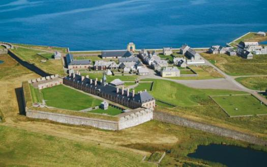 The fortress of Louisbourg, Cape Breton Island (Ile Royale) Nova Scotia.