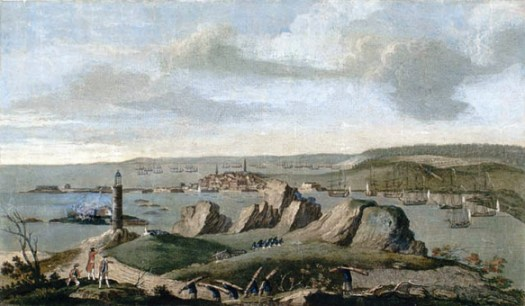 Louisbourg under siege 1758.