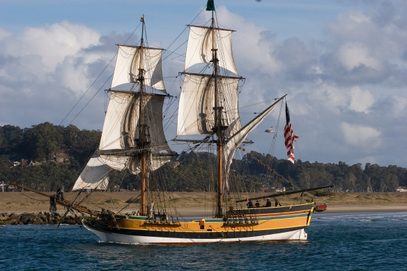The Brig Lady Washington was typical of the type of ships used by the Boston Men to trade in across the Pacific.