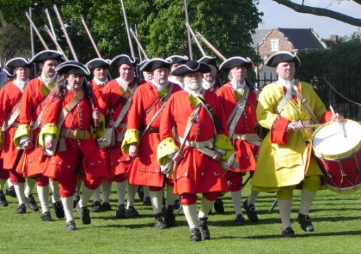 British/English infantry on the march.