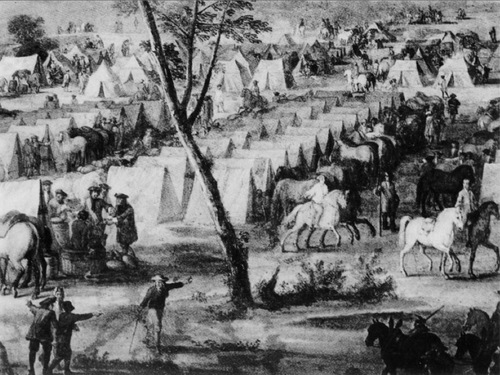 Camp early 18th century.