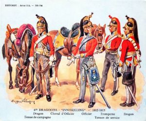 Officers and men of the 6th (Inniskilling) Dragoons 1815