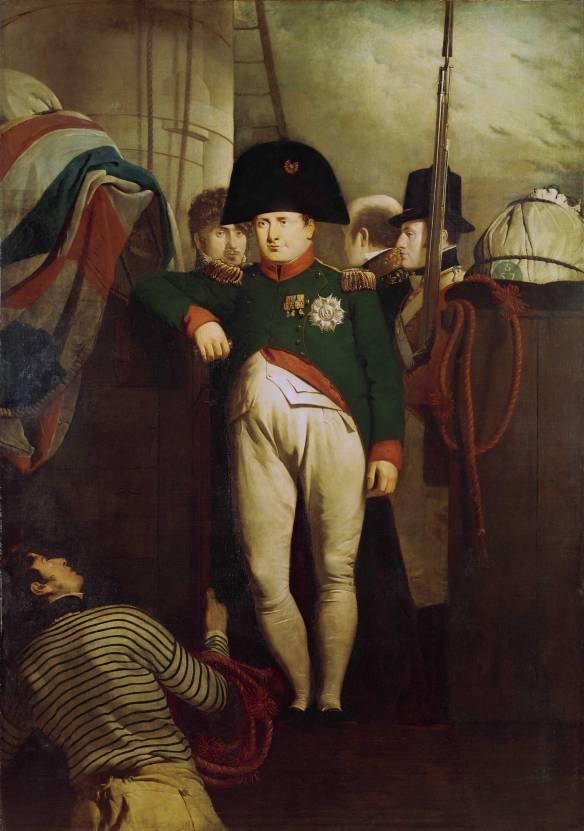 Napoleon on the Bellerophon, by Charles Eastlake 1815