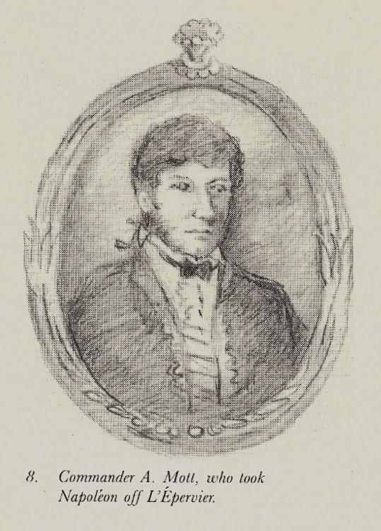 1st Lieutenant Edward Mott, first officer HMS Bellerophon, who took Napoleon off L'Epervier.