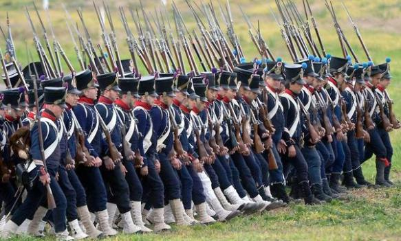 Napoleon reconstituted the Imperial Guard at the expense of the line. Old and former soldiers laid off by the Bourbons, were encouraged to return to the colours and formed the core of Napoleon's army.