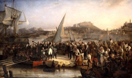 Napoleon leaves Elba, 26th Feb 1815, by Beaume.