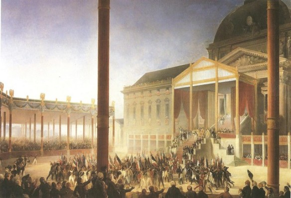 Assembly on the Champ de Mai 1st June 1815. By Heim
