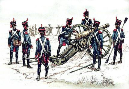 Lack of guns would not be a problem for Napoleon, but trained gunners however were like gold, and the pick of them went to the Imperial Guard.