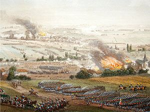 The final advance at Ligny is captured from the air here, as the Garde advance to break the Prussian centre.