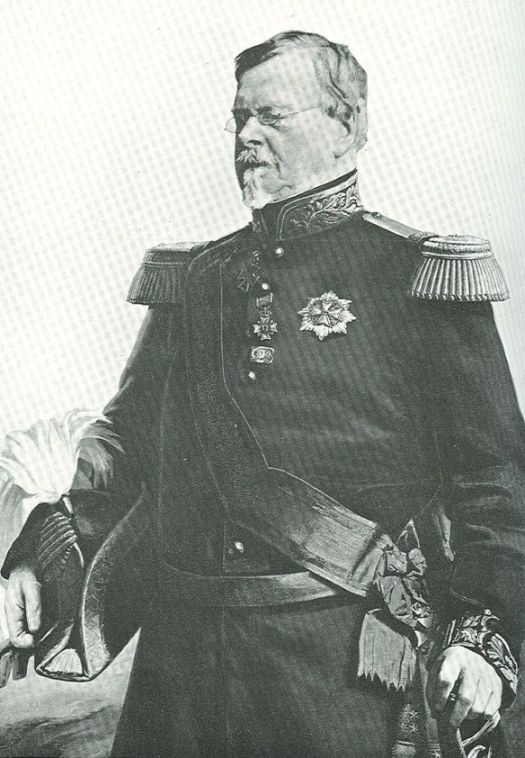 An apparent photo of Prince Bernhard Saxe Weimar in later life.