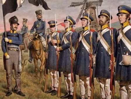 Landewher battalions were the national militia, drawn from many districts to bulk out the army.