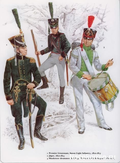 Wellington was not the only one to have doubts about his allies. Blucher's Saxon contingent, pictured here in 1813-14 when fighting for Napoleon were to prove much less worthy of trust than the Dutch and Belgians.