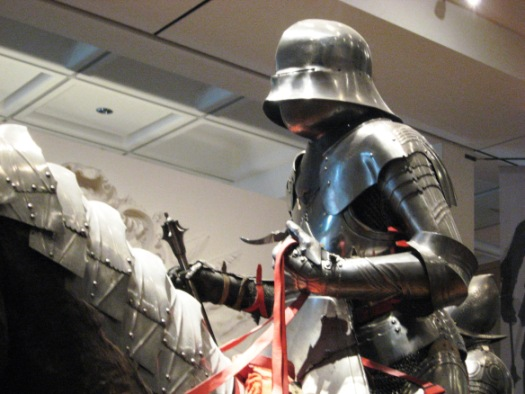 A knight in full plate armour from the 15th century, Royal Armouries.