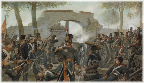 The 5th Militia struggle to hold Gemioncourt against increasing numbers.