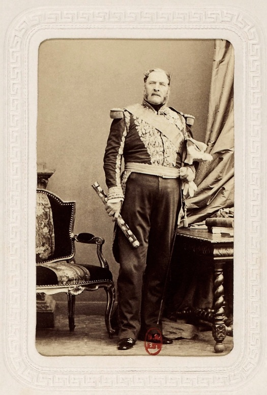 Captain Bernard Pierre Magnan, 4e Tirralieurs Young Garde, pictured as a Marshal of the 2nd Empire.