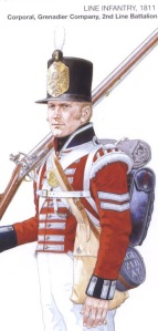 Corporal 2nd Line Battalion, Kings German Legion,  1811. By Mike Chappell