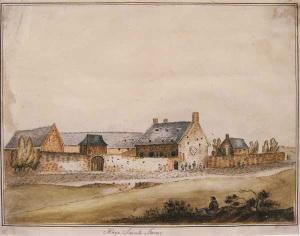 The Farm of La Haie Sainte, on the Brussels Chaussée.