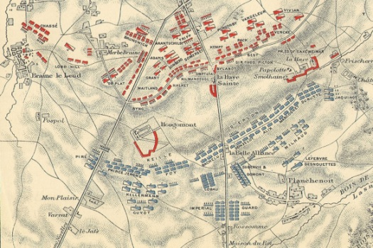Initial dispositions of the French and allied armies.