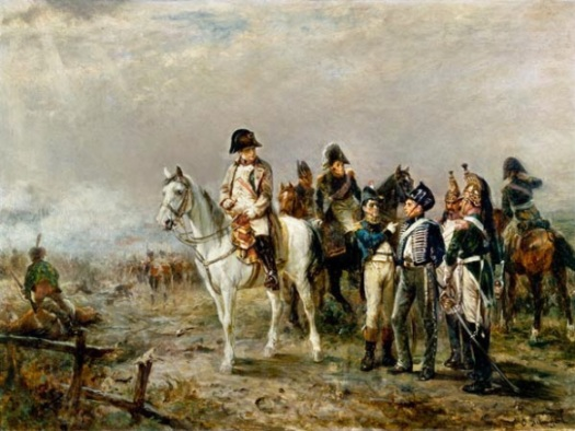 Napoleon learns of the Prussian advance, by Hillingford.