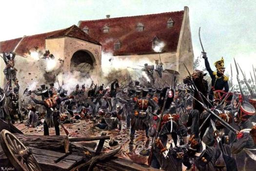 The French Attack on La Haye Sainte. Knotel.