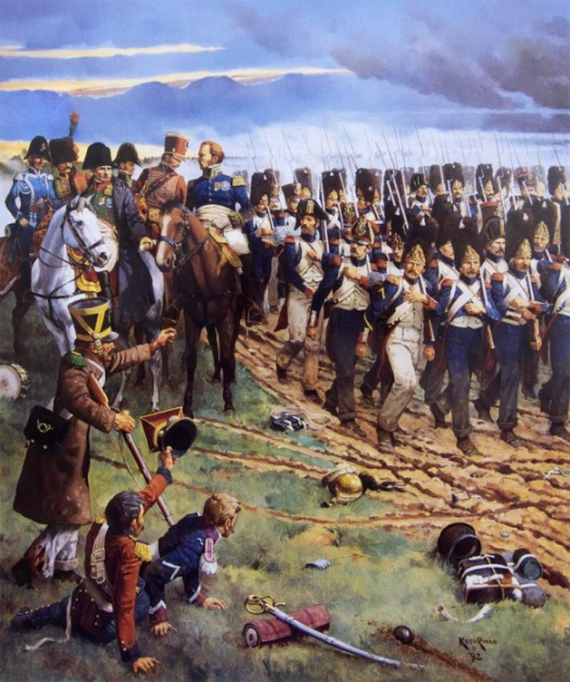 Napoleon hands over the attack of the Imperial Garde to Ney. Keith Rocco.