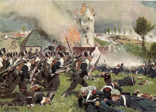 The final attack at Plancenoit drives in the right of the French line. Rochling.
