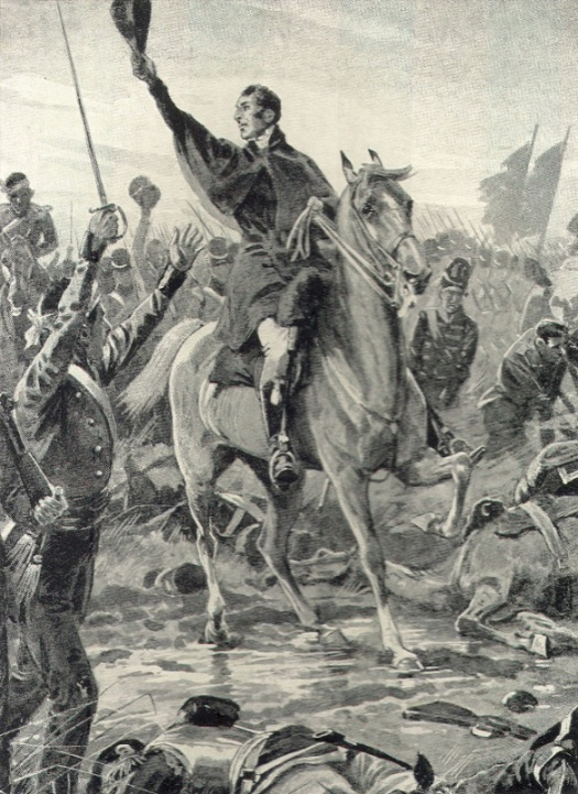 Wellington orders the General Advance. Probably by Wollen.