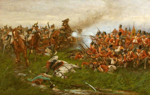 The Gloucester's hold firm against the Cuirassiers. Wollen.